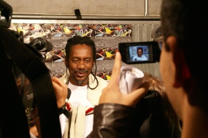 Melodia durante entrevista à imprensa campinense (foto: Dalmo Oliveira)